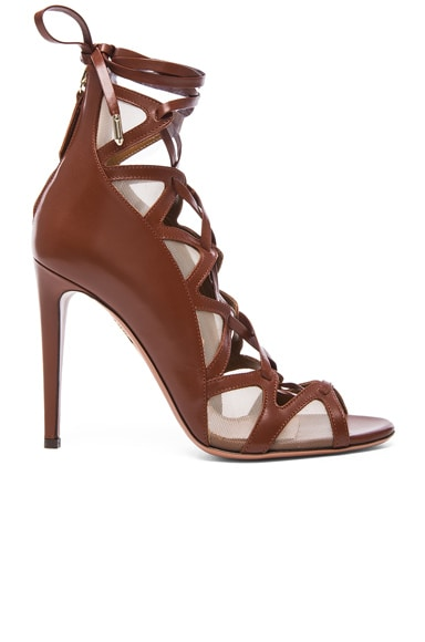 Aquazzura French Lover leather Heels in Luggage