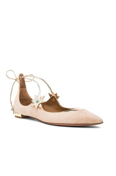 x Poppy Delevingne Midnight Suede Ballet Flats