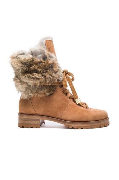 Alexandre Birman Winter Benjamin Suede Boots in Beige & Natural