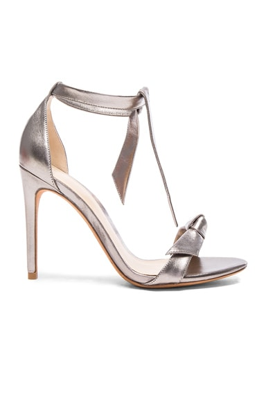 Alexandre Birman Leather Clarita Heels in Limestone