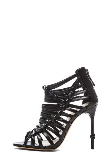 Adara Leather & Watersnake Sandals