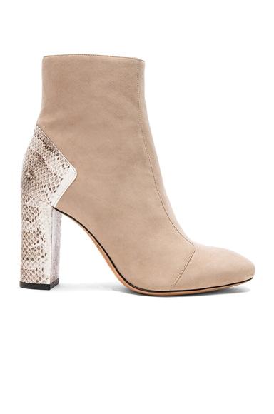 Suede Estella Python Boots