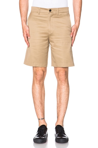 Acne Studios Adrian Cotton Shorts in Sand