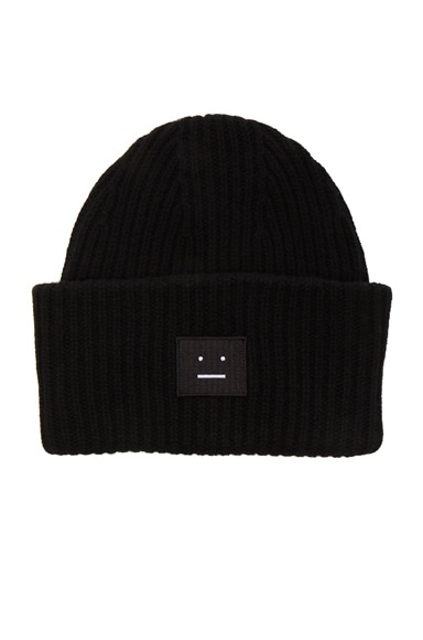 Acne Studios Pansy Beanie in Black
