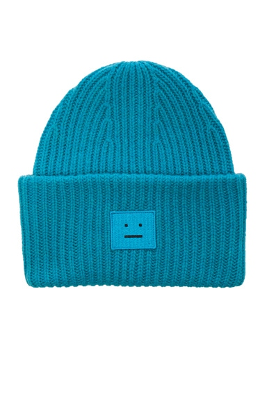 Acne Studios Pansy Beanie in Turquoise