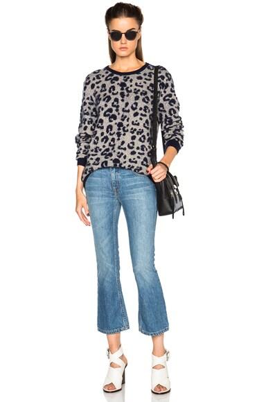 Jean Leopard Jacquard Sweater