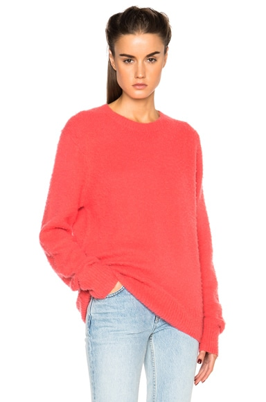 Acne Studios Peele Sweater in Rose Red