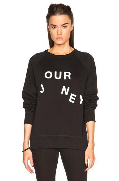 Acne Studios College Slogan Journey Sweatshirt in Black