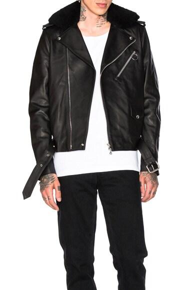 Acne Studios Araki Leather Jacket in Black