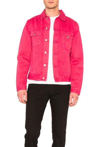 Acne Studios Beat Denim Jacket in Pink