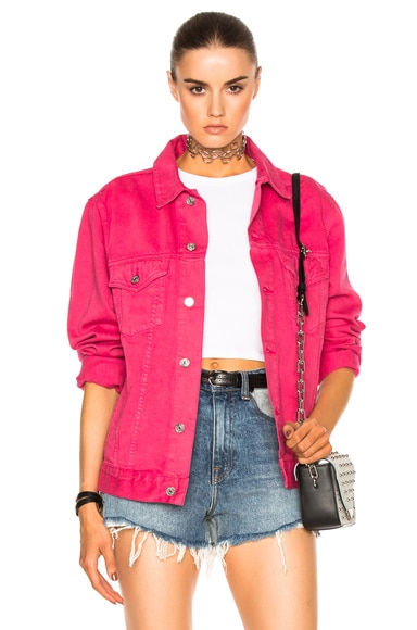 Acne Studios Beat Denim Jacket in Pink