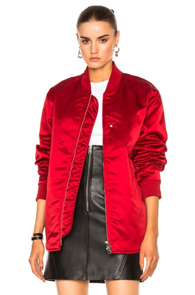 Acne Studios Nylon Bomber Jacket in Red
