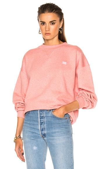 Acne Studios Yana Face Sweatshirt in Pink Melange
