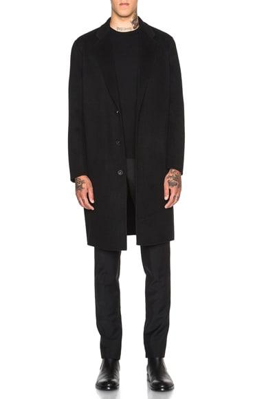 Acne Studios Charles Coat in Black