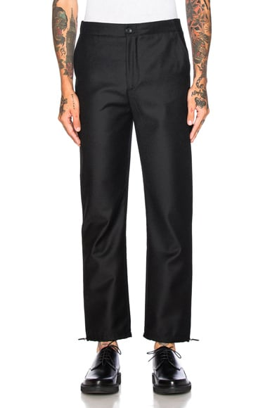 Acne Studios Pace Wool Trousers in Black