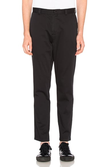 Acne Studios Alfred Satin Trousers in Black
