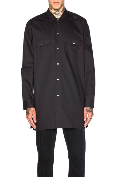 Acne Studios Santos Twill Shirt in Black