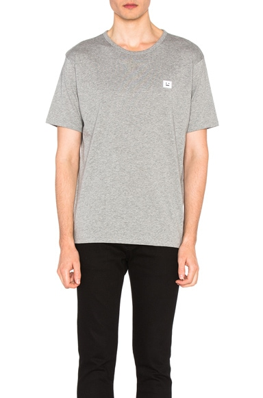 Acne Studios Niagara Face Tee in Gray