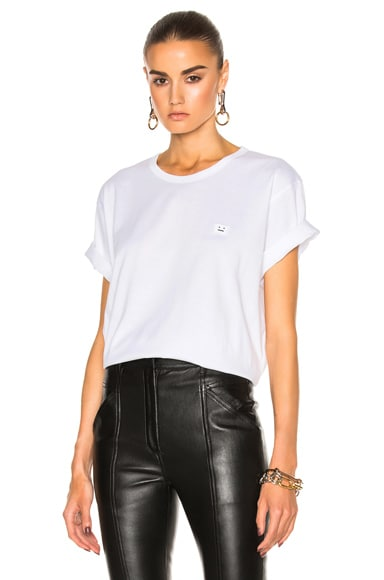 Acne Studios Niagara Face Tee in White