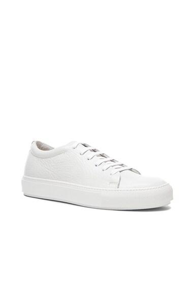 Acne Studios Adrian Grain Leather Sneakers in White