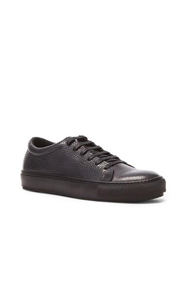 Acne Studios Adrian Grain Calfskin Sneakers in Black