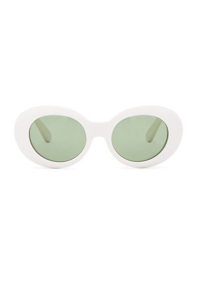 Acne Studios Mustang Sunglasses in Off White