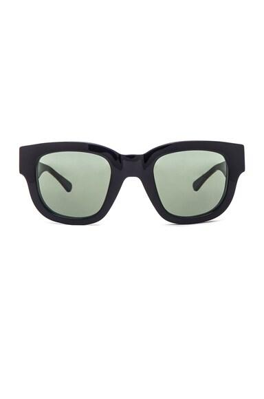 Acne Studios Frame A Sunglasses in Black & Green
