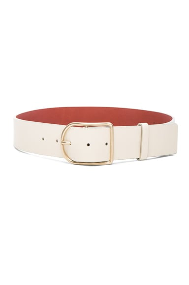 Acne Studios Orione Belt in Cream