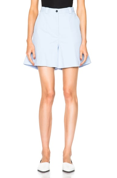 Acne Studios Othella Linen Shorts in Sky Blue