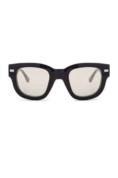 Acne Studios Frame Metal Sunglasses in Black & Silver