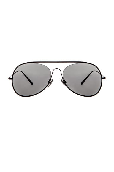 Acne Studios Large Aviator in Black Satin