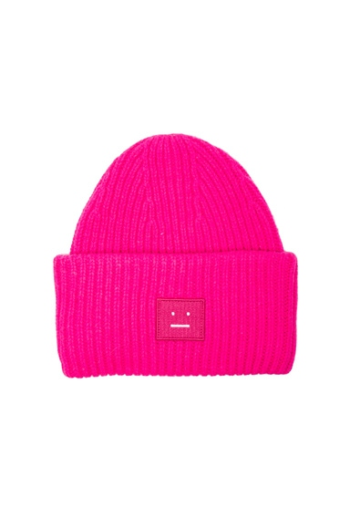 Acne Studios Pansy Wool Hat in Fuchsia Pink