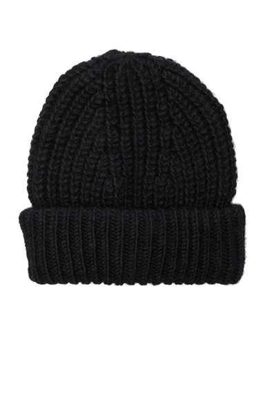 Acne Studios Hoy Chunky Hat in Black