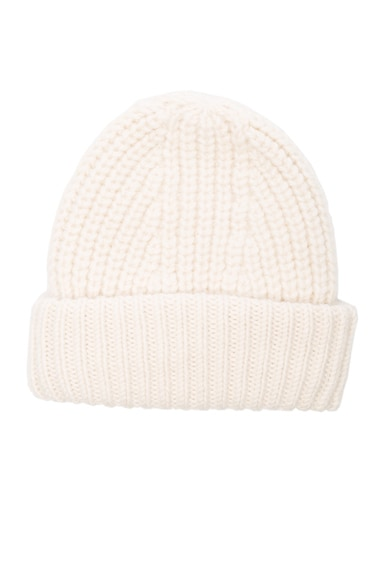 Acne Studios Hoy Chunky Hat in Off White