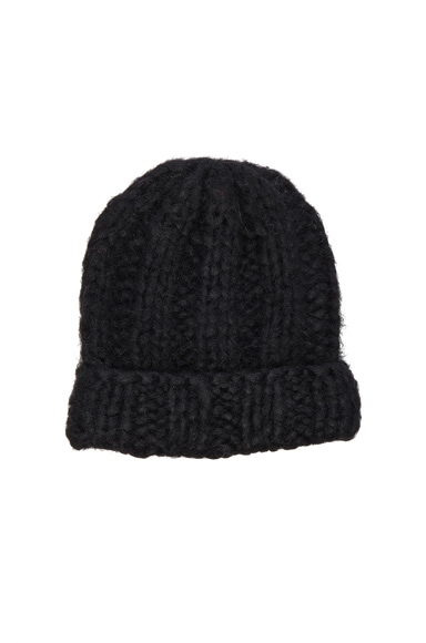 Acne Studios Jewel Alpaca Hat in Black