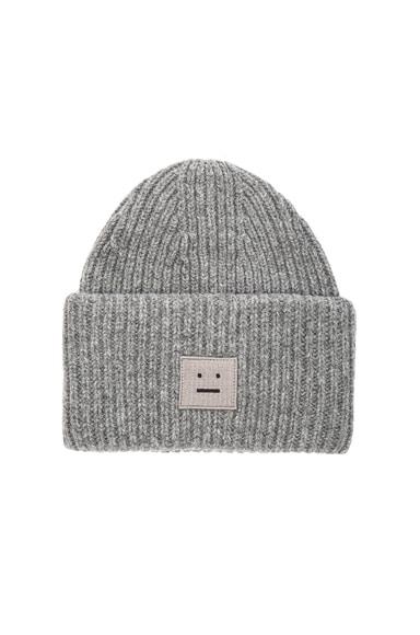 Acne Studios Pansy Wool Hat in Dark Grey Melange