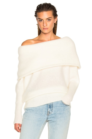 Acne Studios Daze Sweater Pearl White