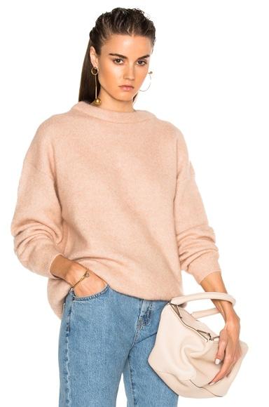 Acne Studios Dramatic Sweater in Pink Melange