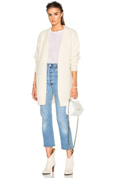 Acne Studios Astrid Sweater in Pearl White