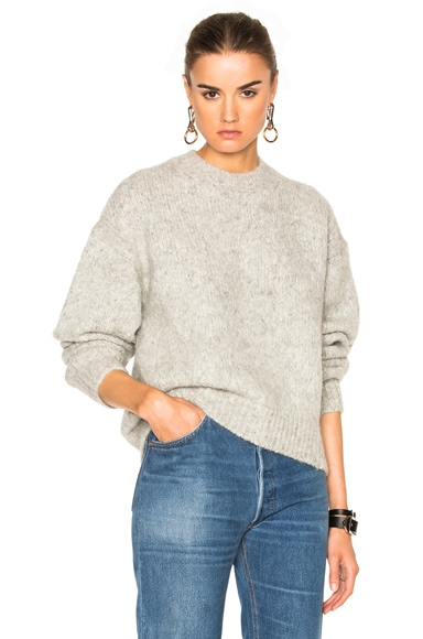 Acne Studios Shira Alpaca Sweater in Silver Grey