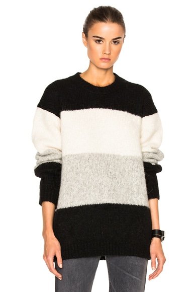 Acne Studios Alvah Sweater in Black Multi Stripe