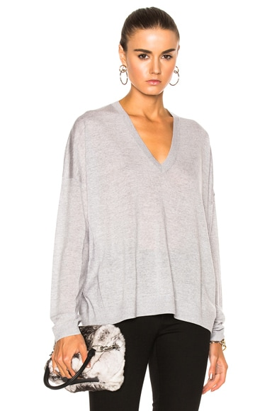 Acne Studios Challa Sweater in Gray Melange