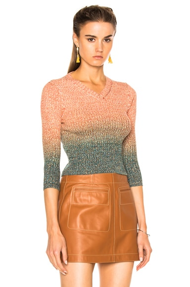 Acne Studios Riva Sweater in Orange & Turquoise