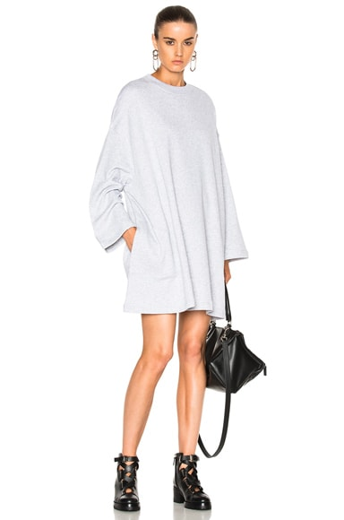 Acne Studios Leyla Fleece Sweater Dress in Gray Melange