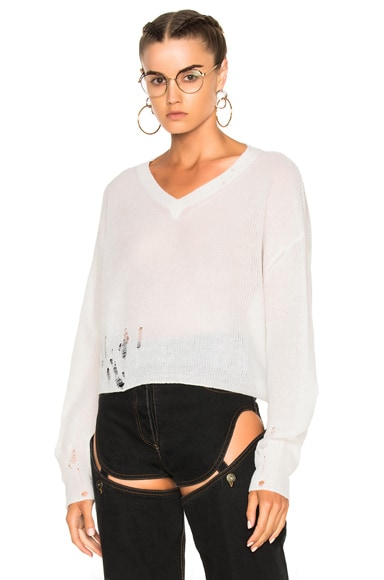 Acne Studios Antje Pullover in Off White