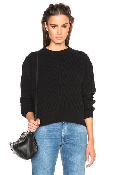 Acne Studios Java Rib Sweater in Black