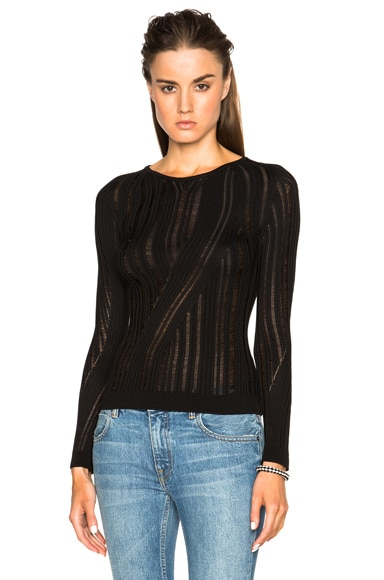 Acne Studios Marcy Mouline Sweater in Black