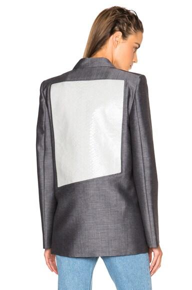 Acne Studios Deana Insert Blazer in Grey & White
