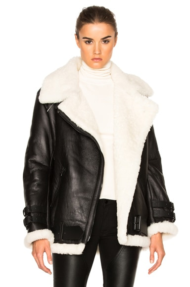 Acne Studios Velocite Jacket in Black & Off White