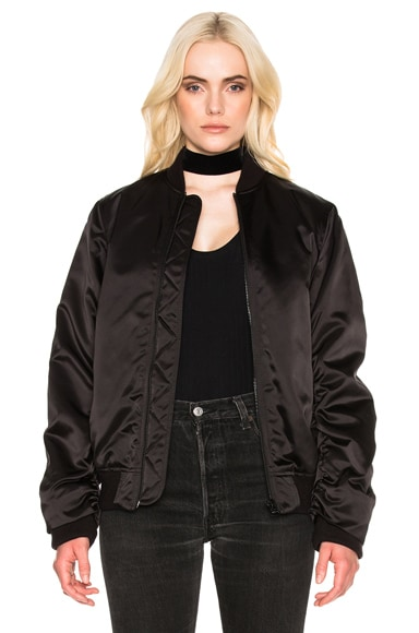 Acne Studios Leia Bomber Jacket in Black